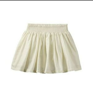 Ivory skirt with gold metallic accents